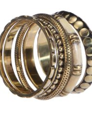 Black And White Metal Bangle Set For Women1