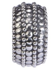 Black Bangle With Studded Beads For Women1