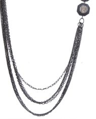Black Metallic Crystal Trendy Chain For Women2