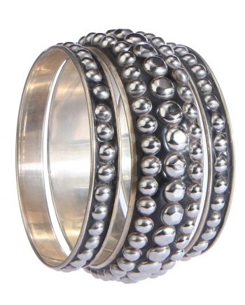 Black Studded Bangle For Women