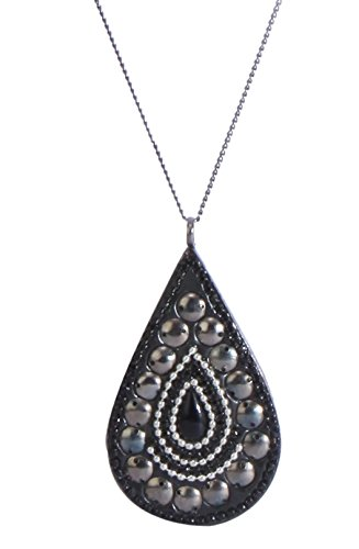 Black Water Droplet Craft Pendant Chain For Women1