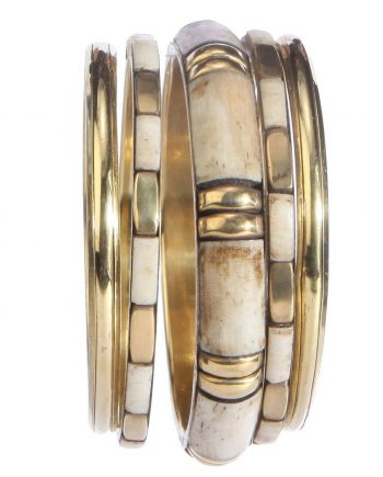 Brass Whitish Golden Bangle For Women