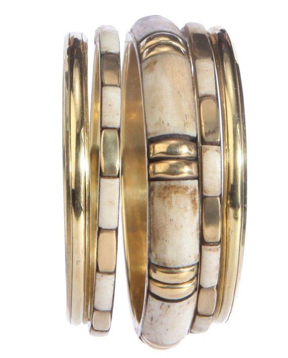 Brass Whitish Golden Bangle For Women