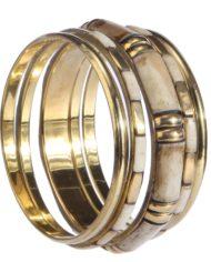 Brass Whitish Golden Bangle For Women1