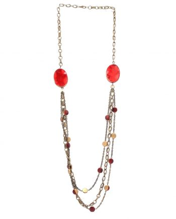 PASSION RED LONG NECKLACE