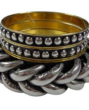 RETRO SILVER BANGLE SET OF 3
