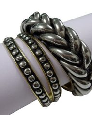 RETRO SILVER BANGLE SET OF 32