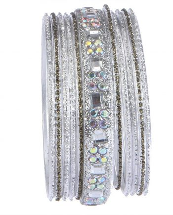 Silver Studded Bangles For Women